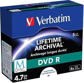 MDisc DVD R 4.7GB 4x 5er Jewel Case DVD masterizzabili Verbatim 798256100000 N. figura 1