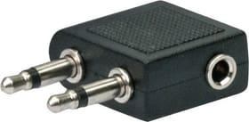 Audio Flugzeugadapter schwarz Schwaiger 613182200000 Bild Nr. 1