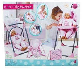 6in1 Highchair with Beauty Bag Ensemble de poupée Lissi 747949100000 Photo no. 1