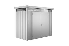 Casetta p. attrezzi High Line 1, porta doppia Biohort 647178000000 Colore Argento-Metallico N. figura 1