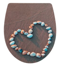 Sedile WC Shell Heart WENKO 674043200000 N. figura 1
