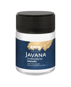 KREUL Javana Stoffmalfarbe Metallic Weiss 50 ml C.Kreul 667203400000 Bild Nr. 1