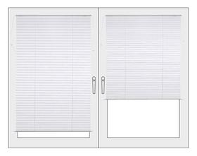 BASIC Store plissé 430741304510 Couleur Blanc Dimensions L: 45.0 cm x H: 130.0 cm Photo no. 1