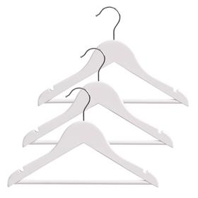 AL Kinderkleiderbügel 407607700010 Grösse B: 30.5 cm x T: 1.0 cm x H: 20.0 cm Farbe Weiss Bild Nr. 1
