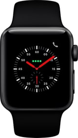 Watch Series 3 GPS + Cellular 38mm Space Grey Aluminium Case Black Sport Band Smartwatch Apple 785300139121 Photo no. 1