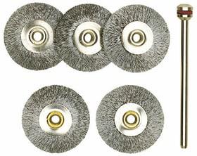 Spazzole in acciaio circolari 5 pz. Accessori per pulitura / lucidatura Proxxon 616045300000 N. figura 1