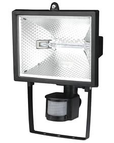 Halogen Sensor-Wandstrahler 400 Watt, schwarz