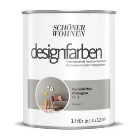 Designfarbe Platingrau 1 l Pittura per pareti Schöner Wohnen 660991400000 Contenuto 1.0 l N. figura 1