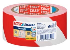 SIGNAL Premium Ruban de sécurisation et de délimitation, rouge/blanc, 66mx50mm Rubans adhésifs Tesa 663076900000 Photo no. 1