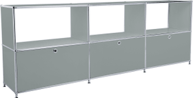 FLEXCUBE Sideboard 401814630280 Grösse B: 227.0 cm x T: 40.0 cm x H: 80.5 cm Farbe Grau Bild Nr. 1