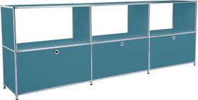 FLEXCUBE Sideboard 401814630266 Grösse B: 227.0 cm x T: 40.0 cm x H: 80.5 cm Farbe Petrol Bild Nr. 1