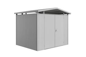 Gerätehaus Panorama P3, Doppeltüre Biohort 647252000000 Farbe Silber-Metallic Dacheindeckung Verzinktes Blechdach Bild Nr. 1