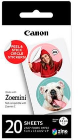 ZINK ZP-2030-2C-20 Circle Sticker carta fotografica Canon 785300159361 N. figura 1
