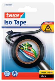 Isolierband, schwarz, 10mx15mm Klebebänder Tesa 663078700000 Bild Nr. 1