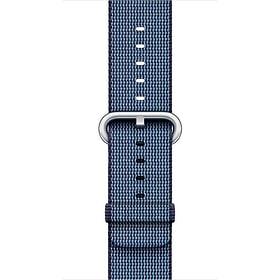 Bracelet en nylon tissé bleu nuit 38 mm