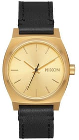 Medium Time Teller Leather Gold Black 31 mm Montre bracelet Nixon 785300136991 Photo no. 1