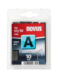 Agrafes en fil fin A Typ 53/10 V2A NOVUS 601268000000 Taglio 10 mm / V2A 1'000x N. figura 1