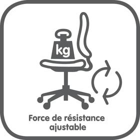 Réglage de la résistance en fonction du poids