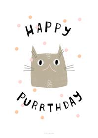 Happy Purrthday Carte postale 657752800000 Photo no. 1