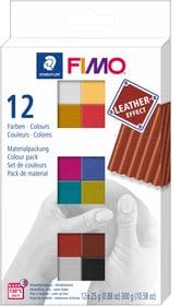 FIMO, effet cuir, 12 couleur x 25 gr. 666787100000 Photo no. 1