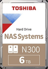 "N300 High-Reliability disque dur interne 6To 3.5"" Disque Dur Interne HDD Toshiba 785300126431 Photo no. 1"