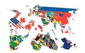 CREARREDA FLAG MAP Tatuaggio murale 442568400000 N. figura 1