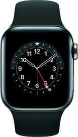 Watch Series 6 LTE 40mm Graphite Stainless Steel Black Sport Band Smartwatch Apple 785300155488 Bild Nr. 1