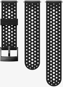 24mm Silicone Strap Black/Black S+M bracelet Suunto 785300157656 Photo no. 1