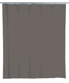 Rideau de douche Uni gris 240x180 cm, PEVA WENKO 674011800000 Photo no. 1