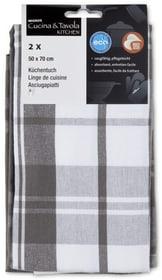 Linge de cuisine Cucina & Tavola 700360500080 Couleur gris / blanc Dimensions L: 50.0 cm Photo no. 1