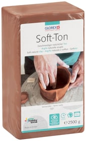 Soft-Ton terracotta 2500g Glorex Hobby Time 665484900020 Farbe Rot Inhalt 2500g Bild Nr. 1