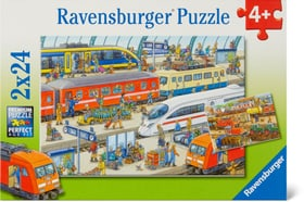 Trubel am Bahnhof Puzzle Ravensburger 748976000000 Bild Nr. 1