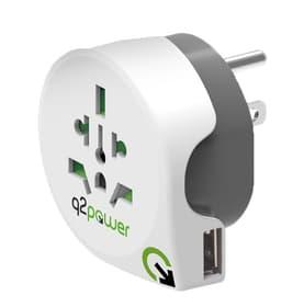 Welt nach USA mit USB Reiseadapter q2power 612151900000 Bild Nr. 1