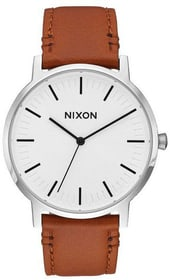 Porter Leather White Sunray Saddle 40 mm Orologio da polso Nixon 785300137046 N. figura 1