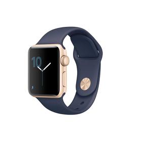 Watch Series 2, 38mm Boîtier en aluminium or avec Bracelet Sport bleu nuit Smartwatch Apple 79818070000017 Photo n°. 1