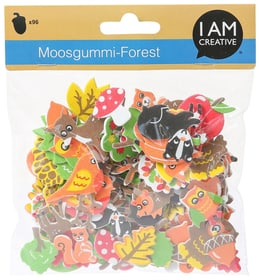 Moosgummi, Forest, 96 Stk. I AM CREATIVE 666217100000 Bild Nr. 1