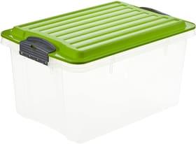 COMPACT Boîte de rangement 4.5l avec couvercle, Plastique (PP) sans BPA, vert/transparent, A5 Boîte de rangement Rotho 604055800000 Photo no. 1