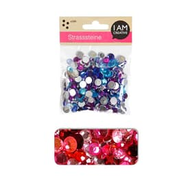 STRASS.ROND,ROUGE MIX