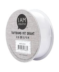 Taftband weiss 25 mm x 4 m I AM CREATIVE 666218800000 Bild Nr. 1