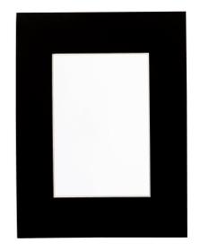 ANATOL Passepartout 439005304820 Farbe Schwarz Grösse B: 48.0 cm x T: 0.1 cm x H: 60.0 cm Bild Nr. 1