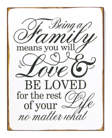 FAMILY & LOVE Dekoschild 431824725253 Grösse B: 26.5 cm x T: 0.5 cm x H: 35.0 cm Bild Nr. 1
