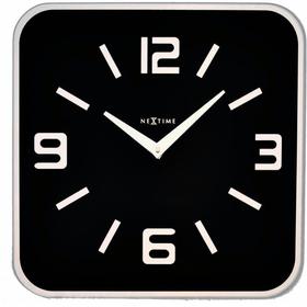 Horloge murale Shoko Noir 43 x 43 cm Horologe murale NexTime 785300140294 Photo no. 1