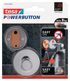 Powerbutton Haken Premium Chrom Klebehaken Tesa 675275800000 Bild Nr. 1