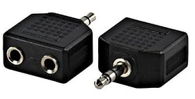 Klinkenverteiler 2fach 3.5mm Stereo 9000013919 Bild Nr. 1