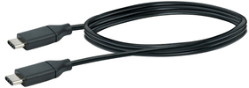 Cable USB 3.1 1m noir, USB 3.1 typeC / USB 3.1 typeC Schwaiger 613183800000 Photo no. 1