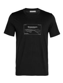 Queenstown Herren-Kurzarmshirt Icebreaker 465811800620 Grösse XL Farbe schwarz Bild-Nr. 1