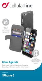 Leder-Effekt-Schutz-Hülle iPhone 6 schwarz