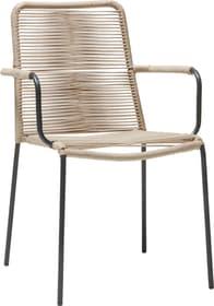 OSLO Sedia con braccioli 753405000002 Taglio L: 53.0 cm x P: 64.0 cm x A: 85.0 cm Colore Beige N. figura 1