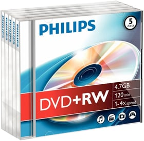DVD+RW 4.7 Go 5-Pack DVD imprimable Philips 787241800000 Photo no. 1