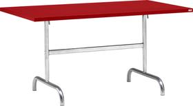 SÄNTIS Table pilante Schaffner 408009700030 Dimensions L: 140.0 cm x P: 80.0 cm x H: 72.0 cm Couleur Rouge Photo no. 1